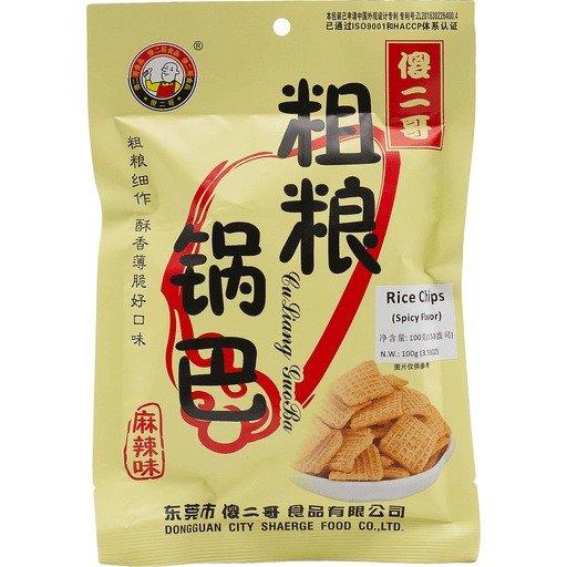 傻二哥粗粮锅巴 麻辣口味 3.53 OZ