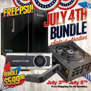 1080+750 G1+DG76 $599EVGA Independence Day Holiday Sale
