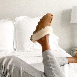 低至4折 封面款码全补货UGG官网 舒适羊毛拖鞋超值折扣 $59起收