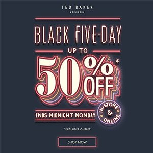 Up to 50% off saleOnline and In-Store @ Ted Baker
