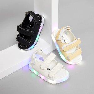 尼龙搭扣涼鞋 带光