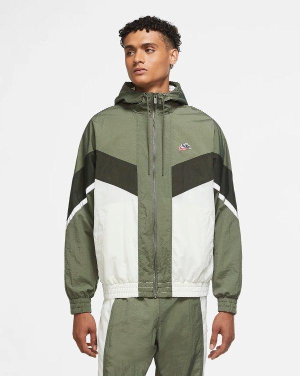 男士复古墨绿外套