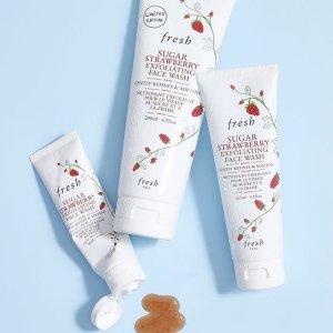 仅33.95收125ml草莓去角质洗面奶Fresh 馥蕾诗 美妆护肤 心动补货 实力get 畅销产品