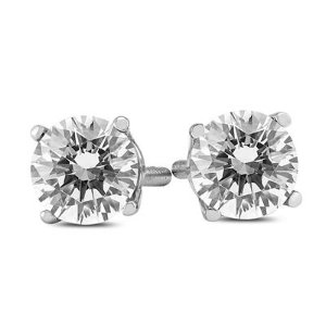$739Dealmoon Exclusive:1 Carat Diamond Solitaire Stud Earring in 14K White Gold