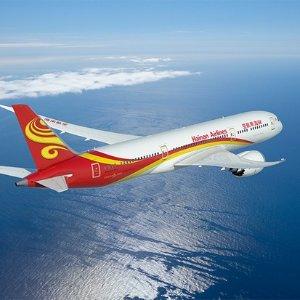 直飞往返$375起 晒单送机模海南航空中美往返机票限时抢