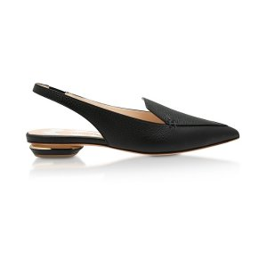 Nicholas KirkwoodBlack Grainy Leather 18mm Beya SlingBack
