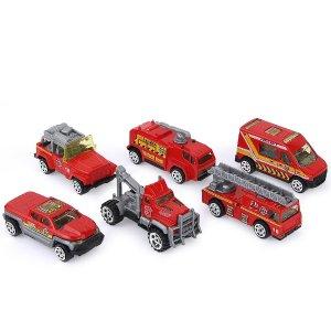 限时折扣,仅$16.99收6台车Coolplay 消防车套装,消防知识玩具中学