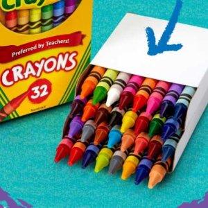 免费Crayola Experience 2021蜡笔日官网自选32色蜡笔