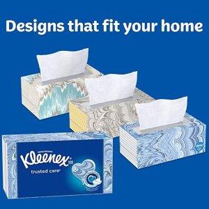 $13.29(原价$16.99)单盒只要$0.8Kleenex 面巾纸16盒装 每盒100张 消耗品好价必囤