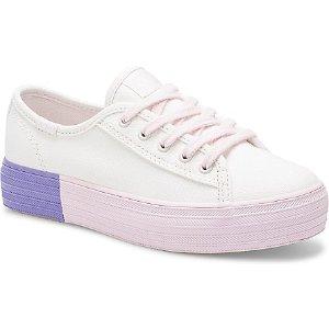 Keds大童款厚底小白鞋