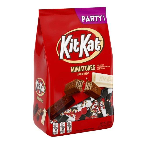迷你KitKat巧克力威化 3款口味综合2磅装