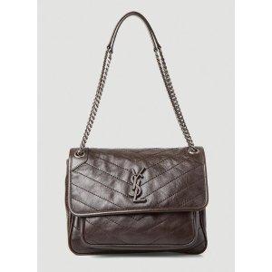 Saint LaurentNiki Medium Shoulder Bag in Brown