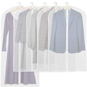 $12.63收5件家用衣物袋 防尘防水可重复使用 维持礼服、羽绒服最佳状态