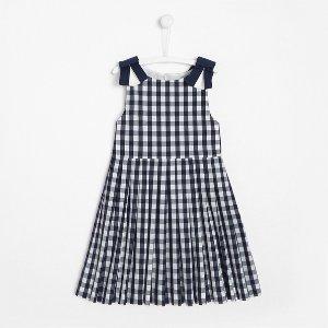 Jacadi女童格纹连衣裙