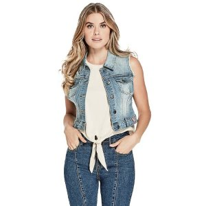 GuessAmery Denim Frayed Vest at Guess