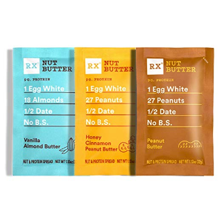 $12.77(原价$19.85) 包邮闪购:RXBAR 健身蛋白酱 三种口味 随身包 10包