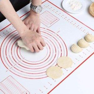 仅售€10.99 喜欢吃饺子煎饼做面食的你们赶紧入手这个GWHOLE饺子面食烘培防湿垫子 40cm x60cm 大小