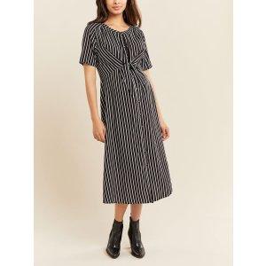 仅剩XS-S-M码黑色条纹连衣裙