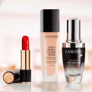8.5折 +  满送价值超$208大礼Lancôme 全场美妆护肤热卖 收小黑瓶、超值套装