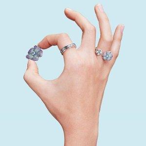 粉色爱心串珠 £9起 超后一天即将截止:Pandora官网  收精选串珠、戒指、耳钉等配饰