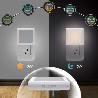 MAZ-TEK Plug-In Led Night Light with Auto Dusk to Dawn Sensor