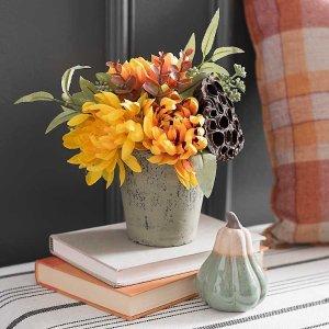 Mixed Chrysanthemum Harvest Arrangement