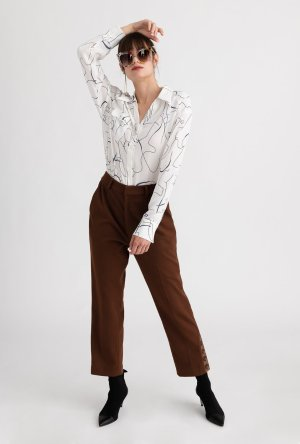 Yolande Pants - Cocoa – Petite Studio