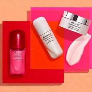 满送价值$82的自选礼包+免邮Shiseido官网 满$85送4件套好礼