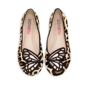 Sophia Webster儿童蝴蝶款平底鞋