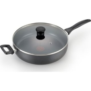 $14.01T-fal B36090 Specialty Nonstick Dishwasher Safe Oven Safe Jumbo Cooker Saute Pan with Glass Lid Cookware, 5-Quart, Black