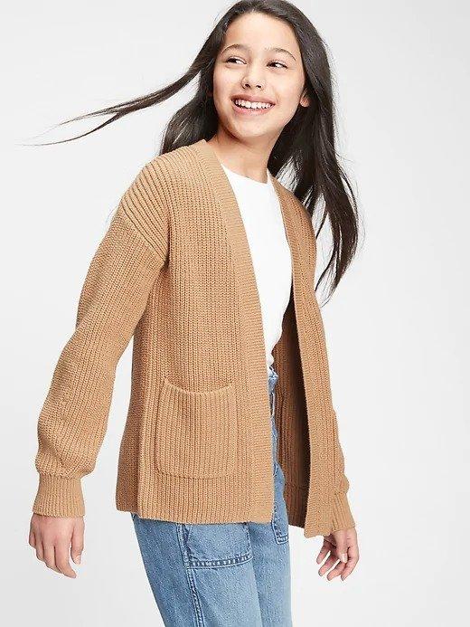 女童、大童编织开衫