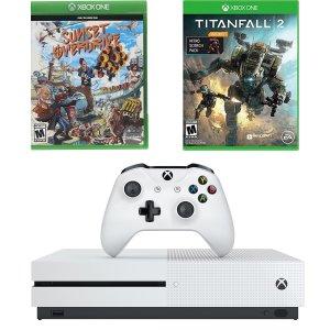 Xbox One S 1TB + 泰坦天降2 + 日落过载