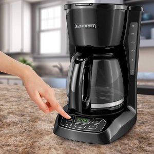 $19.99 (原价$27.99)BLACK+DECKER 12 Cup可编程咖啡机  超高性价比