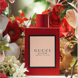 $121 Selfridges独家Gucci 新款Bloom香水上市 正红色新年必备