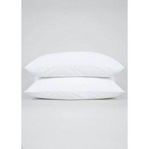 白色纯棉枕套