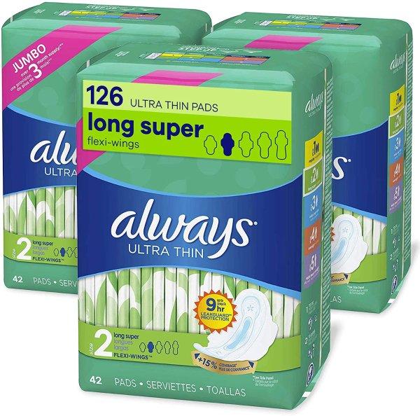 日用超薄型卫生棉量多型 42片装x 3包 共126片