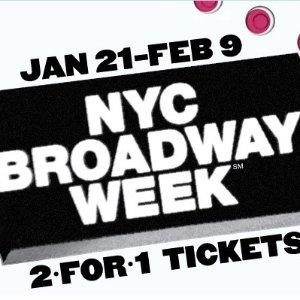 2-For-1 TicketsNYC Broadway Week