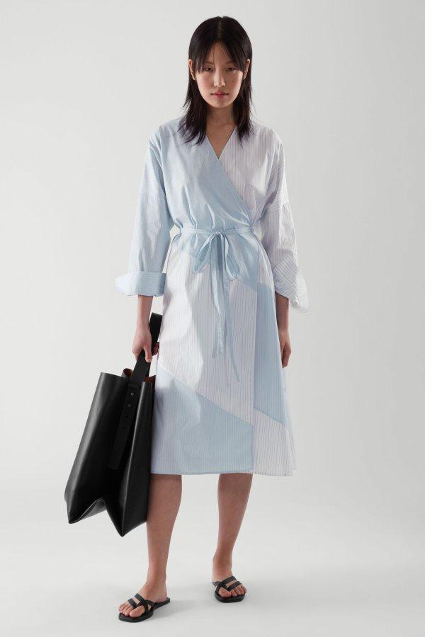 拼色衬衣裙
