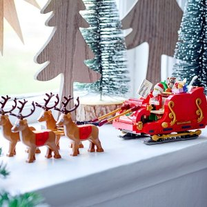 Available on October 1, 2021New Release: LEGO Santa's Sleigh & More Holiday Items