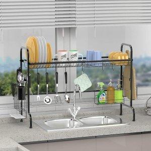 GSlife Stainless Steel Rustproof Over Kitchen Shelf Organizer Rack