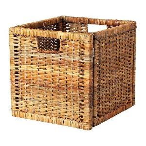 (6) IKEA 竹籃:BRANÄS Basket - rattan  - IKEA