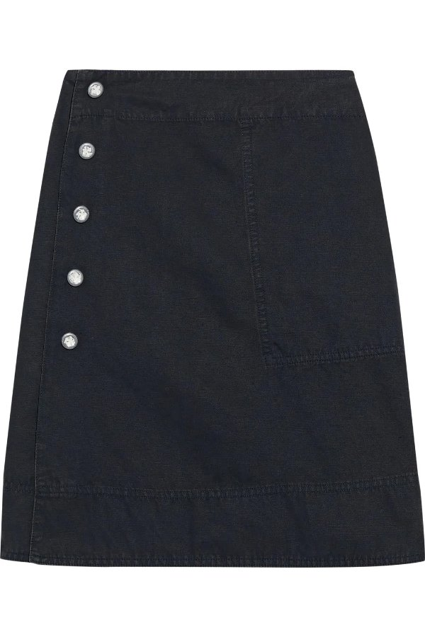 Ida snap-detailed 半身裙