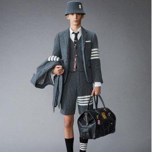 低至6折+额外8折Thom Browne 时尚单品热卖,简约T恤$145
