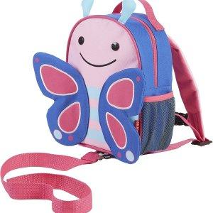 7.2折 $17.99(原价$24.95)Skip Hop 动物园系列儿童书包 防走失双肩包 蝴蝶款