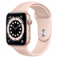 Apple Watch Series 6 44mm GPS, 金色表壳配粉色运动表带
