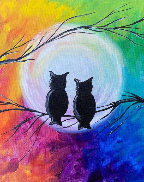 彩虹天空下的猫头鹰 适合6岁以上