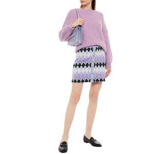 Maje香芋紫毛衣