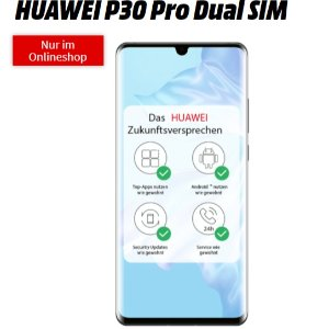 每月10GB流量 一次性购机费1€华为Huawei P30 Pro超值合同