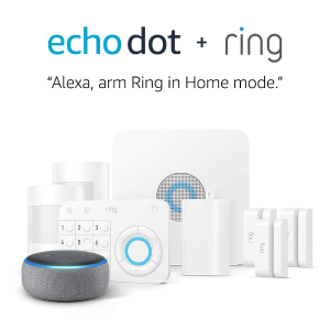 Ring Alarm 8-Piece Home Security Kit + Echo Dot
