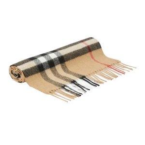Burberry满额最高立减$436经典羊绒围巾